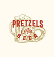 pretzels and beer week abstract sign vector image vector image