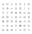public buildings linear icons signs symbols vector image vector image