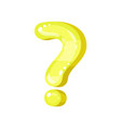 question mark yellow glossy bright punctuation vector image