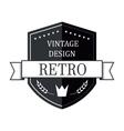 Retro vintage logo template vector image vector image