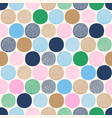 seamless childish abstract colorful dots pattern vector image vector image