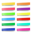 set color sticky notes stickers isolated vector image vector image