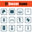 Set of soccer icons vector image vector image