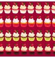 Strawberry cupcake seamless vector image