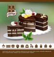 tasty desserts colorful concept vector image vector image