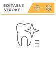 teeth whitening editable stroke line icon vector image vector image
