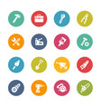 tools icons - fresh colors series vector image