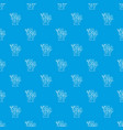 tree pattern seamless blue vector image vector image