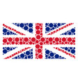 united kingdom flag collage of circle icons vector image vector image