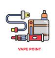vape point shop promotional poster with modern vector image vector image