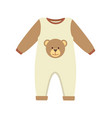 baby clothes costume poster vector image