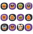 set of halloween cupcakes set of halloween vector image