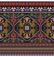 Paisley seamless pattern Ornamental border vector image