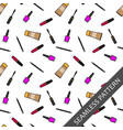 seamless pattern with accessories for makeup vector image