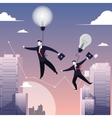 two businessmen walking on vector image