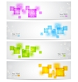 Abstract background with square shapes vector image vector image