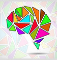 abstract geometric human brain vector image vector image