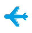 airplane transport pictograph isolated image vector image vector image