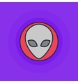 alien flat icon vector image