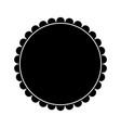 badge frame round emblem decoration pictogram vector image