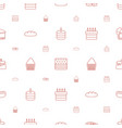 bakery icons pattern seamless white background vector image vector image