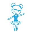 ballet ballerina icon vector image vector image