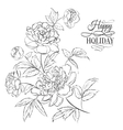 beautiful peony flowers vector image