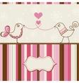Birds love greeting card vector image