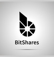bitshares cryptocurrency simple black icon vector image vector image
