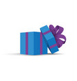 blue opened present vector image vector image