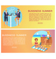 business summer collection vector image vector image