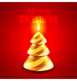 Candle as Christmas tree holiday concept vector image vector image