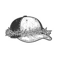 cap crown thorns sketch vector image