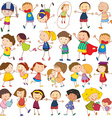 Children actions vector image vector image