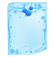 Christmas list in blue vector image vector image