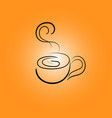 cup line icons on an orange gradient background vector image vector image