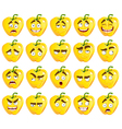 cute cartoon yellow Bulgarian pepper smiles vector image vector image