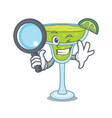 detective margarita character cartoon style vector image