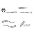 filmstrip template designs vector image vector image
