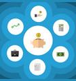 flat icon finance set of money box greenback vector image vector image