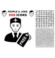 free doctor icon with bonus vector image vector image