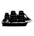 frigate sailing ship vector image vector image