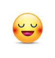 fun cartoon emoji smiley icon face happy smiling vector image vector image