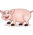 funny pig cartoon vector image vector image