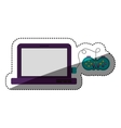 Gamepad and laptop of videogame design vector image vector image