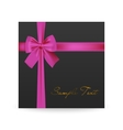 Greeting card with bow vector image