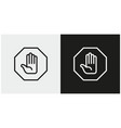 Hand stop sign icon set stop symbols