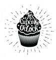 it is cupcake oclock vector image vector image