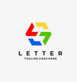 logo abstract letter s flat color line art style vector image vector image