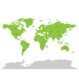 map of united nation with green highlighted member vector image vector image